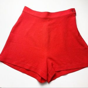 American Apparel Red Crepe Shorts S